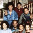 Phylicia Rashad, Malcom-Jamal Warner, Tempest Bledsoe, Sabrina Lebeauf et Bill Cosby, stars du Cosby Show, en 1990.