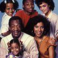 Bill Cosby en 1984 avec sa famille du Cosby Show