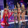 Elsa Hosk, Lily Aldridge, Alessandra Ambrosio, Adriana Lima, Candice Swanepoel, Romee Strijd, Jasmine Tookes - Défilé Victoria's Secret 2017 à Shanghai, le 20 novembre 2017.