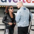 Exclusif - M. Pokora et sa compagne Christina Milian quittent Nice, le 5 novembre 2017.