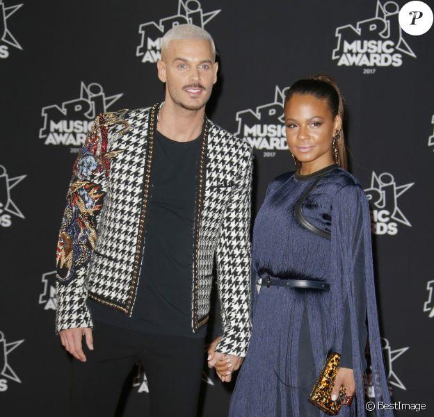 M. Pokora et Christina Milian - 19e édition des NRJ Music Awards à Cannes le 4 novembre 2017. © Christophe Aubert via Bestimage