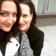 Ariane Ferrier et l'une de ses filles sur Instagram, le 27 février 2016.
