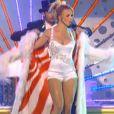 Britney Spears en 2001 lors de son show à Las Vegas, la reine de la scène c'est elle !