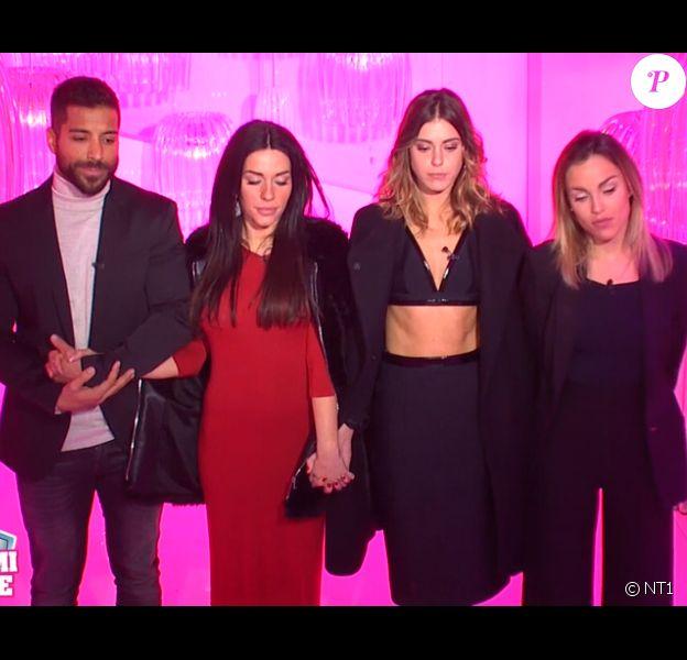 "Alain, Laura, Barbara et Charlène - prime de ""Secret Story 11"", jeudi 30 novembre 2017, NT1"