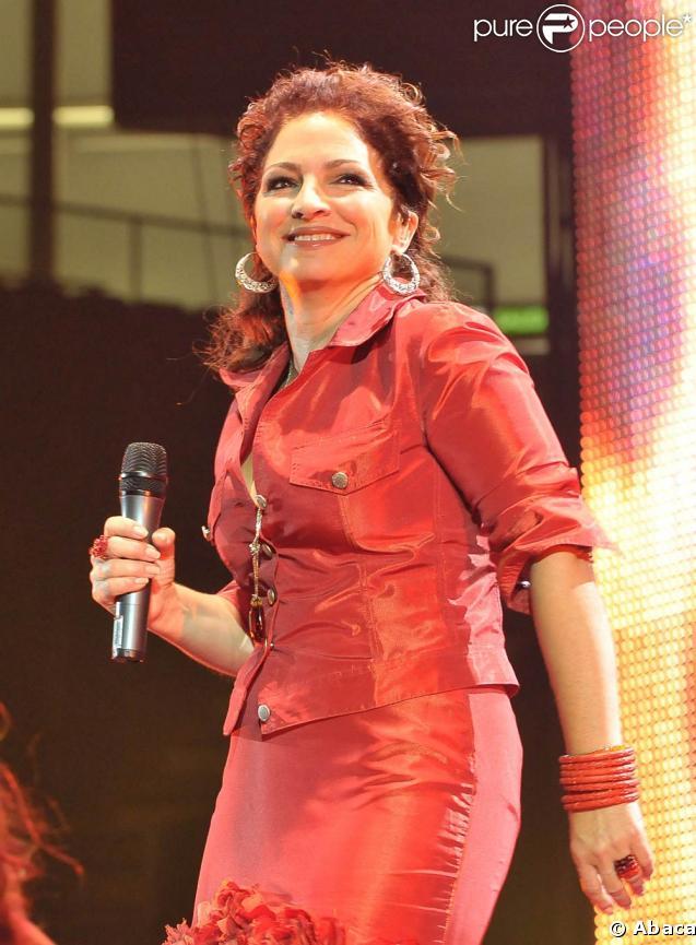 Gloria Estefan lors de sa tournée européenne, à Madrid en septembre 2008