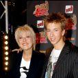 """Jordy et sa mère - Cérémonie des """"NRJ Ciné Awards"""" au Grand Rex à Paris le 30 septembre 2005."""