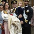 La princesse Sofia, le prince Carl Philip, leurs enfants le prince Gabriel et le prince Alexander, la reine Silvia et le roi Carl Gustav - Baptême du prince Gabriel de Suède à la chapelle du palais Drottningholm à Stockholm le 1er décembre 2017.  Prince Gabriel's christening, Drottningholm Palace Chapel, 2017-12-0101/12/2017 - Stockholm
