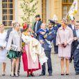 Sara Hellqvist, la princesse Sofia (Hellqvist) de Suède, le prince Carl Philip, le Prince Gabriel, le Prince Alexander, la princesse Madeleine - Baptême du prince Gabriel de Suède à la chapelle du palais Drottningholm à Stockholm, Suède, le 1er décembre 2017.