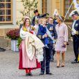 La princesse Sofia (Hellqvist) de Suède, le prince Carl Philip, le Prince Gabriel, le Prince Alexander - Baptême du prince Gabriel de Suède à la chapelle du palais Drottningholm à Stockholm, Suède, le 1er décembre 2017.  Prince Gabriel's christening, Drottningholm Palace Chapel in Stockholm, Sweden, on December 1st, 2017.01/12/2017 - Stockholm
