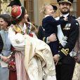 Le prince Carl Philip, la princesse Sofia avec leurs enfants le prince Gabriel et le prince Alexander - Baptême du prince Gabriel de Suède à la chapelle du palais Drottningholm à Stockholm le 1er décembre 2017.  Prince Gabriel's christening, Drottningholm Palace Chapel, 2017-12-0101/12/2017 - Stockholm