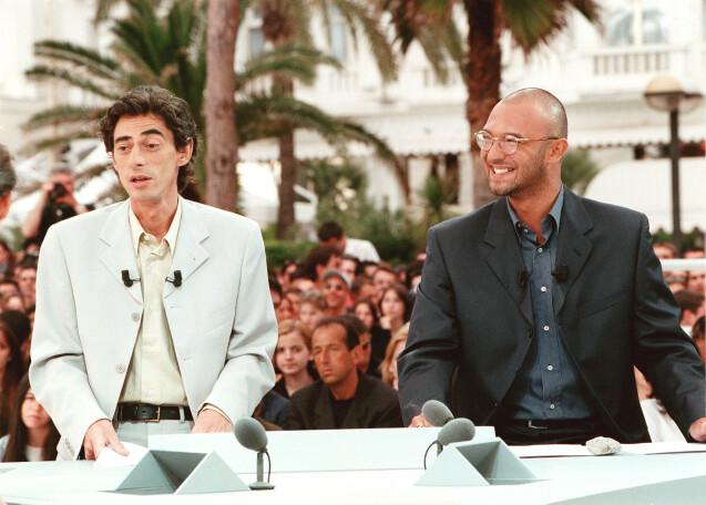Philippe Vecchi et     Alexandre Devoise sur le plateau de Nulle Part Ailleurs   © Franz Chavaroche/Nice Matin/ABACA.