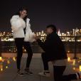 Chanel Iman et son petit ami Sterling Shepard sont fiancés. Le 2 décembre 2017.
