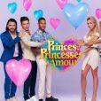 """Benjamin Samat, Virgil, Marvin, Hillary, Aurélie Dotremont et Mélanie Dedigama au casting des """"Princes et princesses de l'amour"""" (W9)."""