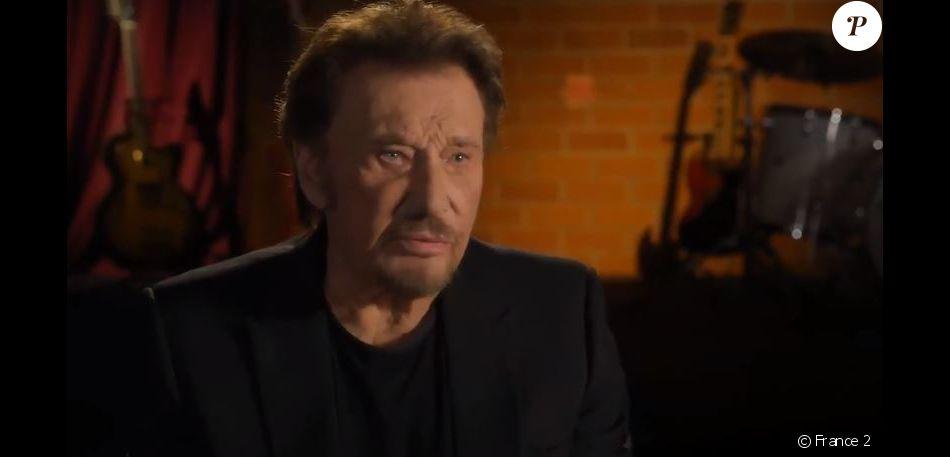 Johnny Hallyday dans le documentaire  inédit   Johnny Hallyday, la France rock'n roll,   diffusé mardi 12 décembre sur France 2.