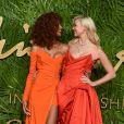 Jourdan Dunn, Karlie Klossaux Fashion Awards 2017 au Royal Albert Hall à Londres, le 4 décembre 2017