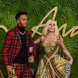 Lewis Hamilton, Donatella Versaceaux Fashion Awards 2017 au Royal Albert Hall à Londres, le 4 décembre 2017