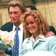 Mariage de Laeticia et Johnny Hallyday à Paris le 25 mars 1996.
