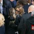Laura Smet et Sylvie Vartan - Obsèques de Johnny Hallyday, à Paris, le 9 décembre 2017