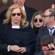Sylvie Vartan et Darina - Obsèques de Johnny Hallyday, à Paris, le 9 décembre 2017