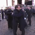 Emmanuel Macron - Obsèques de Johnny Hallyday en l'église de la Madeleine à Paris. Le 9 décembre 2017.