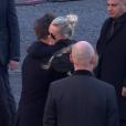 David Hallyday et Laeticia Hallyday - Obsèques de Johnny Hallyday en l'église de la Madeleine à Paris. Le 9 décembre 2017.