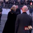 David Hallyday, Laura Smet - Obsèques de Johnny Hallyday en l'église de la Madeleine à Paris. Le 9 décembre 2017.