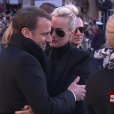 Emmanuel Macron, Laeticia Hallyday - Obsèques de Johnny Hallyday en l'église de la Madeleine à Paris. Le 9 décembre 2017.