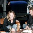 Johnny Hallyday, sa fille Laura Smet et Fabrice Luchini à Paris en avril 2006.