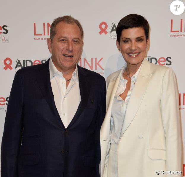 Cristina Cordula et son mari Frédéric Cassin - 8ème édition du Dîner Link pour Aides au Pavillon Cambon à Paris, le 11 décembre 2017. © Coadic Guirec/Bestimage