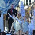 Gwen Stefani chante pour la parade de Thanksgiving de Macy's à New York le 21 novembre 2017.