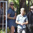 Exclusif - Gwen Stefani et son fils Kingston à Los Angeles, le 10 septembre 2017.
