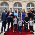 Exclusif, no web no blog : La famille d'Emmanuel et Brigitte Macron au complet, enfants, beaux enfants et petits enfants le jour de l'investiture.
