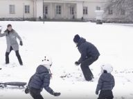 Victoria, Daniel, Estelle et Oscar de Suède: Bataille de boules de neige de Noël