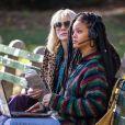 Rihanna et Cate Blanchett sur le tournage de Ocean 8 à New York le 7 novembre 2016.