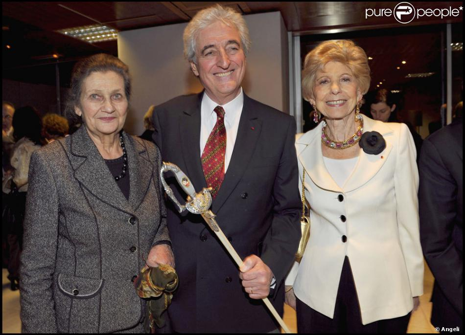 jean loup dabadie avec simone veil et h l ne carr re d 39 encausse. Black Bedroom Furniture Sets. Home Design Ideas