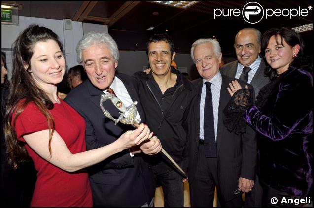 Jean-Loup Dabadie, Julien Clerc, Philippe Labro et Pierre Benichou