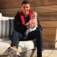 Cristiano Ronaldo avec sa petite Eva, photo Instagram du 28 novembre 2017