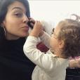 Georgina Rodriguez, compagne de Cristiano Ronaldo, passant les fêtes avec des proches, photo Instagram du 19 décembre 2017