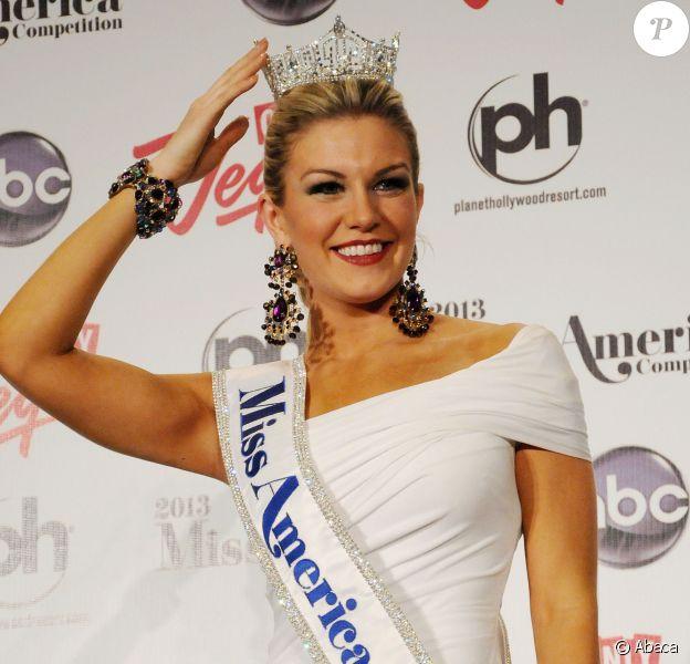 Mallory Hagan, couronnée Miss America, devant la presse le 12 janvier 2013 à Las Vegas.