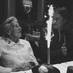 Pierre Sarkozy souhait une belle année à ses followers et rend hommage à sa grand-mère maternelle, Dadue Sarkozy, le 1er janvier 2018.