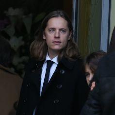 Pierre Sarkozy - Obsèques d'Andrée Sarkozy (mère de Nicolas Sarkozy), dite Dadue née Andrée Mallah, en l'église Saint-Jean-Baptiste à Neuilly-Sur-Seine. Le 18 décembre 2017.
