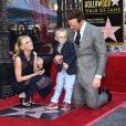 """""""Chris Pratt avec sa femme Anna Faris et leur fils Jack - Chris Pratt reçoit son étoile sur le Walk of Fame à Hollywood le 21 avril 2017."""""""