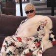 Photo de Kris Jenner par Kim Kardashian. Le 23 octobre 2017.