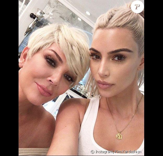 Kris Jenner et Kim Kardashian. Novembre 2017.