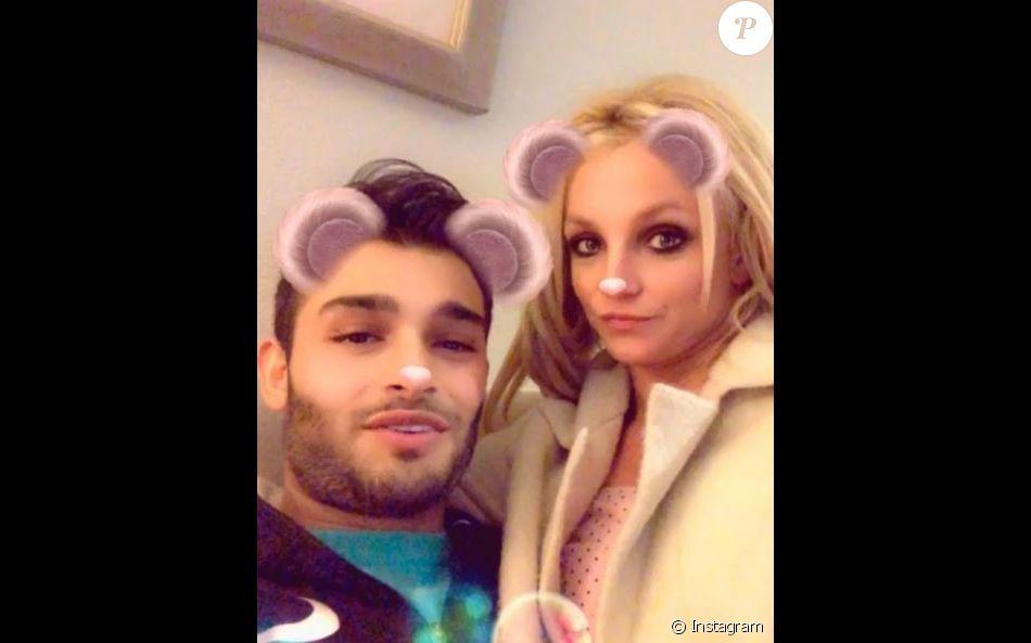 Britney Spears et son chéri Sam. Instagram, janvier 2018