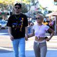 """""""Halsey et son compagnon G-Eazy à Beverly Hills, Los Angeles, le 28 décembre 2017."""""""
