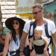 """Exclusif  - Megan Fox et son mari Brian Austin Green sont allés déjeuner au restaurant mexicain """"Los Arroyos Montecito"""" avec leurs enfants Noah Shannon, Bodhi Ransom et Journey River, le 9 juillet 2017. I"""