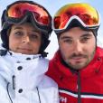 Bertille et Loïc Fiorelli (Secret Story 9), le 30 décembre 2017 à Vars.
