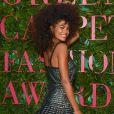 "Tina Kunakey - Photocall de la soirée ""Green Carpet Fashion Awards"" lors de la fashion week de Milan. Le 24 septembre 2017"