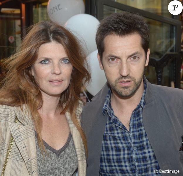 Archive - Frederic Diefenthal et sa femme Gwendoline Hamon - Soiree d'inauguration de la boutique Stone de la creatrice de bijoux Marie Poniatovski, la soeur de Sarah Lavoine a Paris, le 25 juin 2013.
